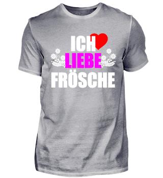 Frosch T-Shirt ich liebe Frösche