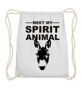 Meet Spirit Animal - donkey - black