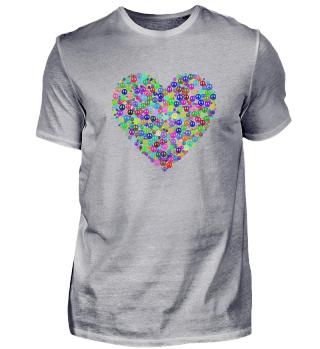 Herz aus Peace Symbole