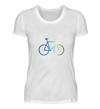 Fahrrad blau grün Style Radsport fahren