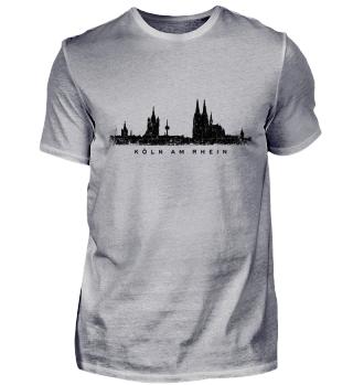 Köln Skyline T-Shirt Köln am Rhein