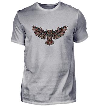 Eule Owl Tiere Kunst Art Shirt
