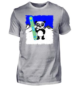 Panda with Snowboard