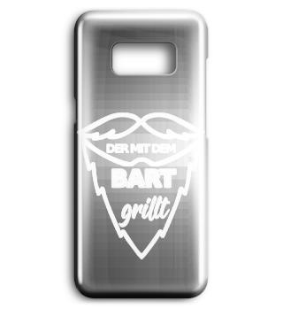 witzige Handyhülle - der mit Bart grillt