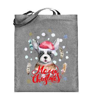 ☛ Merry Christmas · Boho Dog · Hund #8A