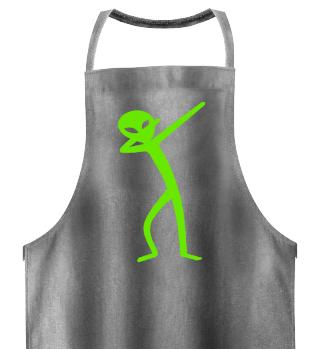 Dabbing Stick Figure - Green ALIEN