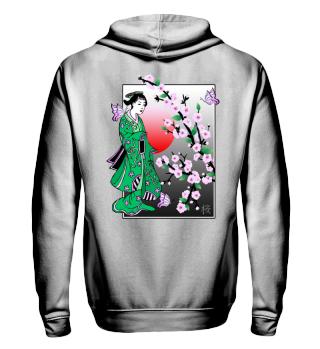 ♥ Cherry Blossom - Geisha Butterfly 3