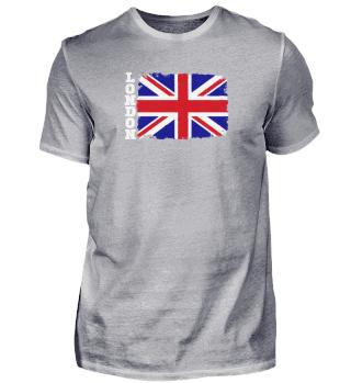 London Flagge Großbritannien Grunge