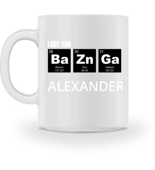 Chemical Elements - got BaZnGa - white 4