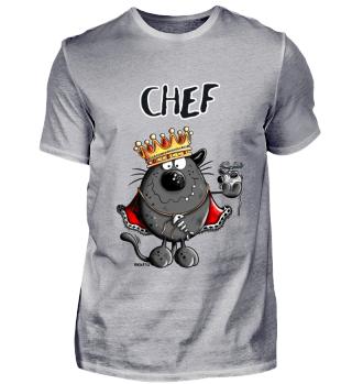 Chef Katze - König - King - Comic