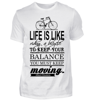 Life is like riding a bike Fahrrad Retro