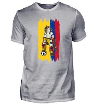I Colombia Einhorn Fussball Kolumbien