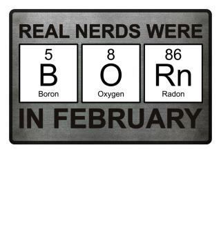 Periodic Elements - BORN february black