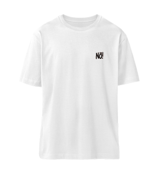 Organic Oversized Shirt Nö! (black)