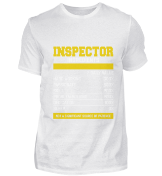 Cool Inspector Ingredients T Shirt