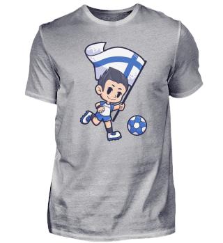 Finnland Fussball Sport Junge Flagge