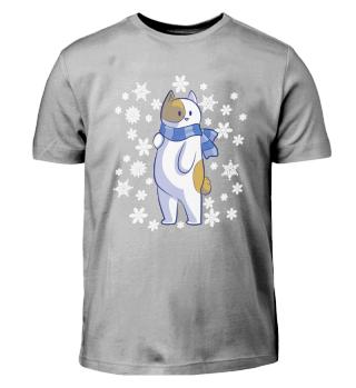 Winter Katze Schnee Geschenk Kinder Cool