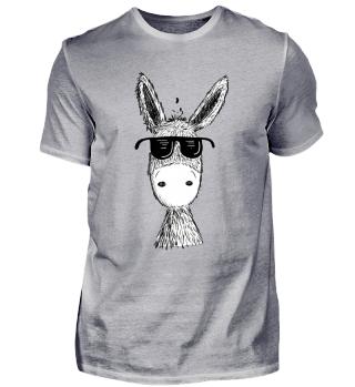 Esel mit Sonnenbrille I Sommer I Muli