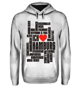 ♥ Ich Liebe HAMBURG - schwarz