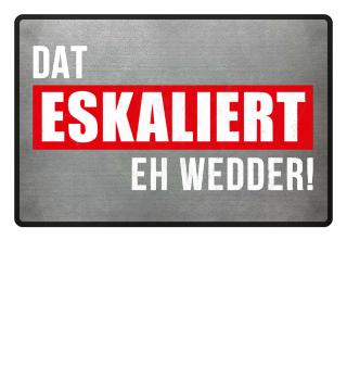 DAT ESKALIERT EH WEDDER! | Plattdeutsch