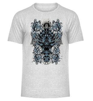 Death Skull blue black Design Artist