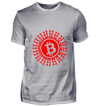 GIFT- BITCOIN CIRCLE RED