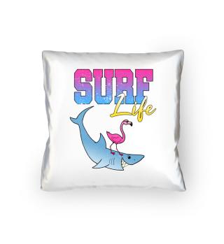 Surfing Shark Flamingo Surf Life Gift