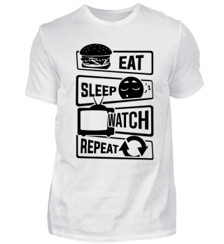 Eat Sleep Watch Repeat - Binge Watching