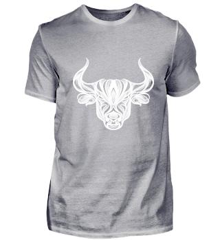Stier Kopf Sternzeichen Tier Cool Shirt