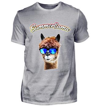 Llama Alpaca - Summerllama - Cool Funny Shirt Gift
