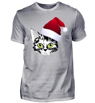santa cat weihnachtskatze Xmas ugly design party