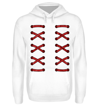 ♥ Double Cross Lacing - red I