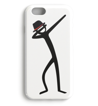Dabbing Stick Figure - Gangster Hat 2