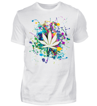 ★ Color Splashes - Marijuana Leaf I