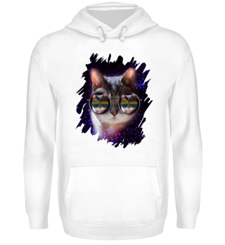 COOL CAT - LGBT Sun Glasses HOODIE