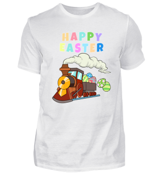 Happy Easter Egg Hunt Railroad Train