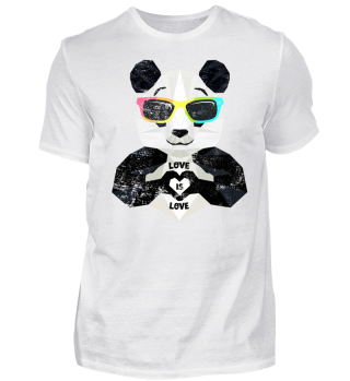 LGBT Panda Spruch Love Is Love