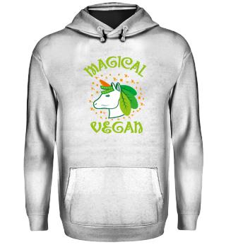 Magical Vegan Unicorn Green Vegetables