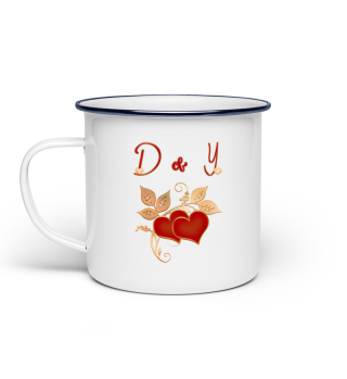 Tasse für Paare Initialen D und Y