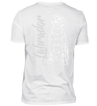 LABRADOR Retriever Hund dog Backprint