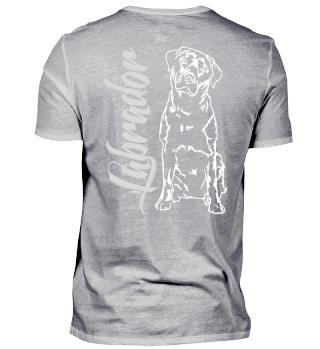 LABRADOR Retriever Hund dog Backprint