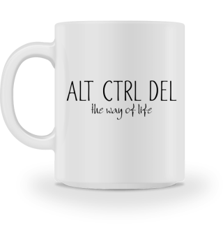 ALT CTRL DEL - the way of life - black