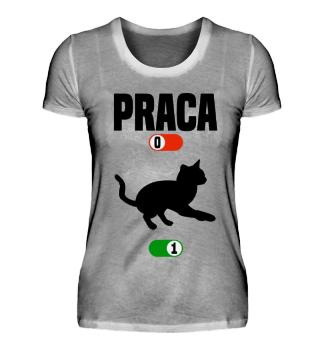Praca Kot prezent koszulka