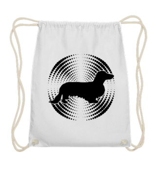 ★ Dachshund Long Hair Mandala black