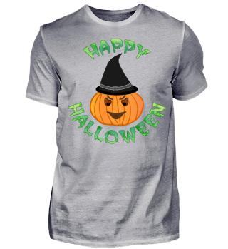 Halloween Kürbis Orange Green Black