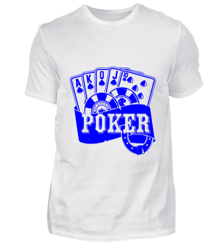 GIFT- POKER CARDS BLUE