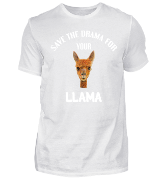 Llama T-Shirt Funny Save The Drama Shirt