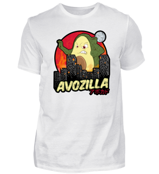 Funny Avocado Monster Avozilla Kaiju