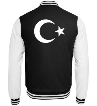 Türkei Jacke - Türkei Sweatjacke Flaggenmotiv