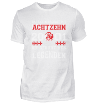 18. Geburtstag T-Shirt Legenden